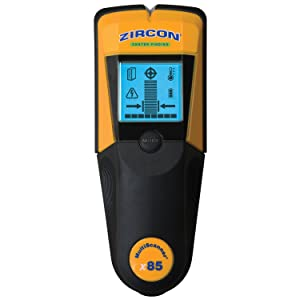 Zircon MultiScanner x85 Center Finding Stud Finder, Thermal Scanner and Live AC Wire Detector