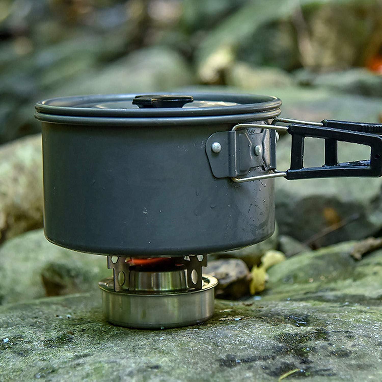 Outdoor Camping Aluminiumlegierung Mini Alkohol Herd Mit Kreuzst/änder Herd Rack Support Stand Explopur Spirituskocher