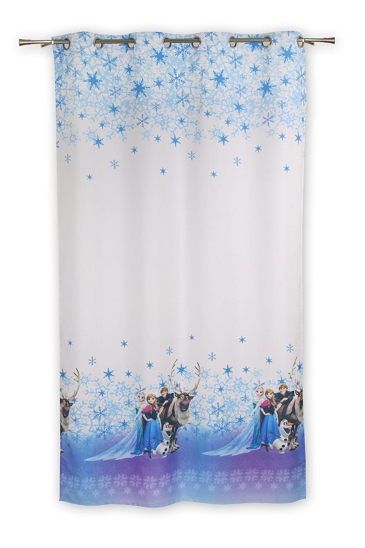Disney Frozen con Occhielli, Poliestere, Bianco, 245 x 140 cm 245x 140cm Deco Center 10-19DFROZEN-01