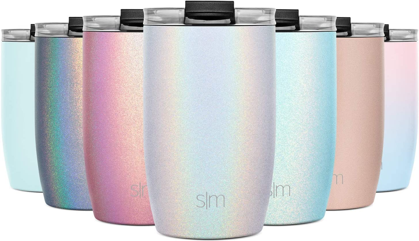16oz Voyager Tumbler Gift Flask Cup -Rose Gold Vacuum Insulated Double-Walled 18//8 Stainless Steel Travel Mug with Closing Flip Lid and Straws Simple Modern 470 ml