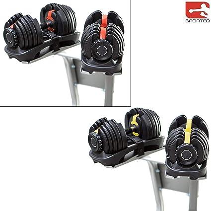 Sporteq - Mancuernas ajustables (24 kg, 40 kg de peso, para ...