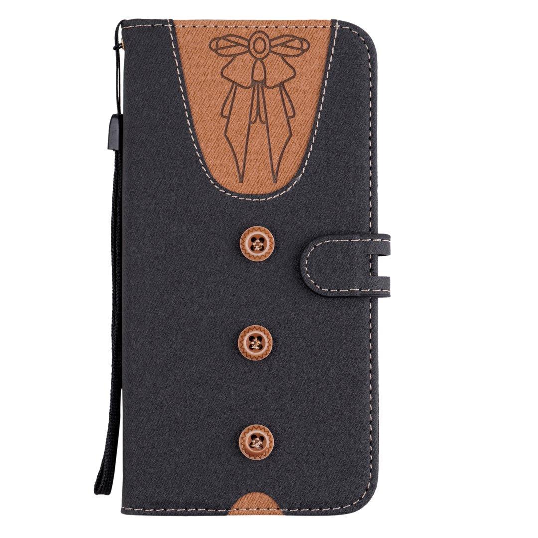 Cute Taste Krawatte Design Grau PU Leder Kunstleder Flip Case mit ID Kreditkarten Magnetverschluss Stand Fuction Bookstyle Tasche f/ür Samsung Galaxy S8 Plus Samsung S8 Plus Handytasche