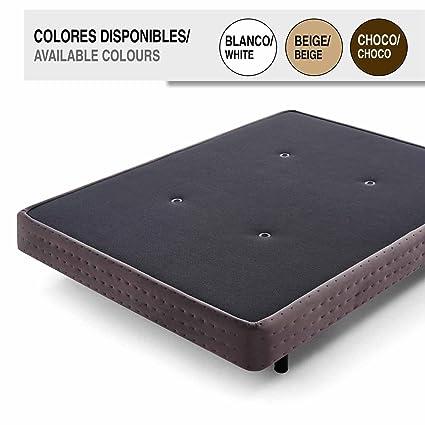 Comodón - Base Tapizada Bordeaux Choco 80X180X15 cm