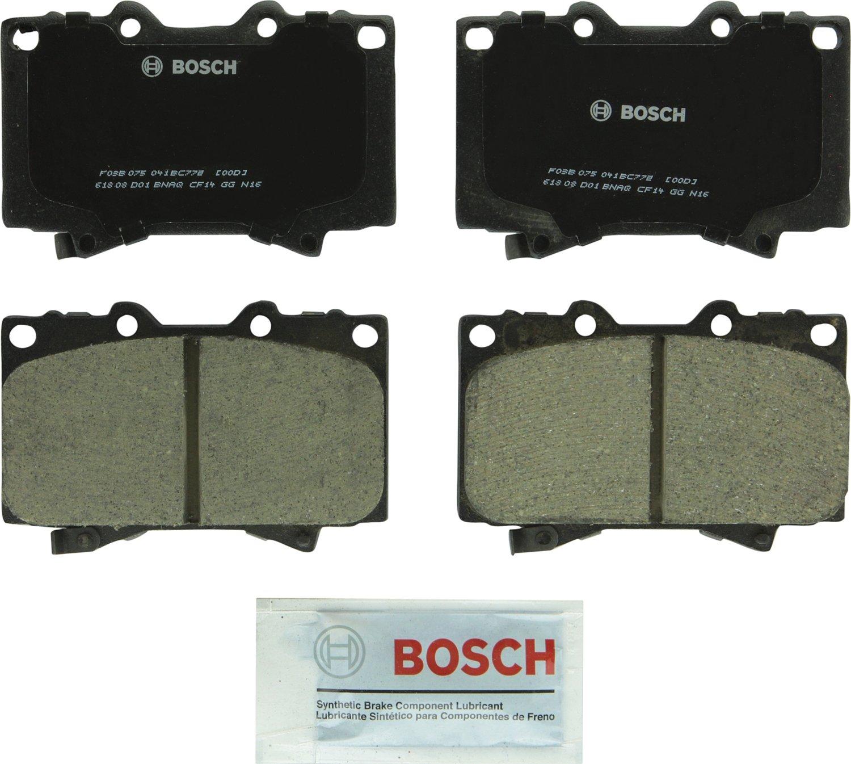 Front Lexus LX470; Toyota Land Cruiser Bosch BC772 QuietCast Premium Ceramic Disc Brake Pad Set For