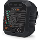 Tacklife EST01 Advanced GFCI Outlet Tester Power Socket Automatic Electric Circuit Polarity Voltage Detector Wall Plug Breaker Finder