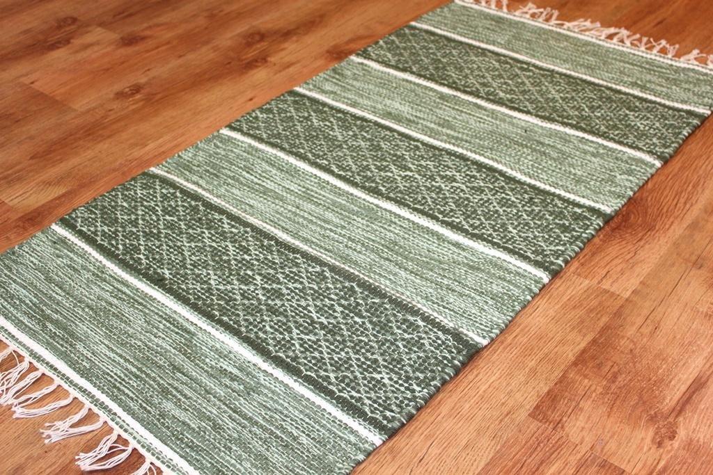 Trendcarpet Flickenteppich - Visby (grün) Größe 70 x 300 cm