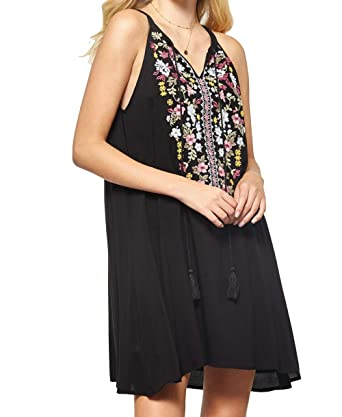 036fdafa606 Andree By Unit Women's Embroidered Sleeveless Dress-Black-Medium at Amazon  Women's Clothing store: