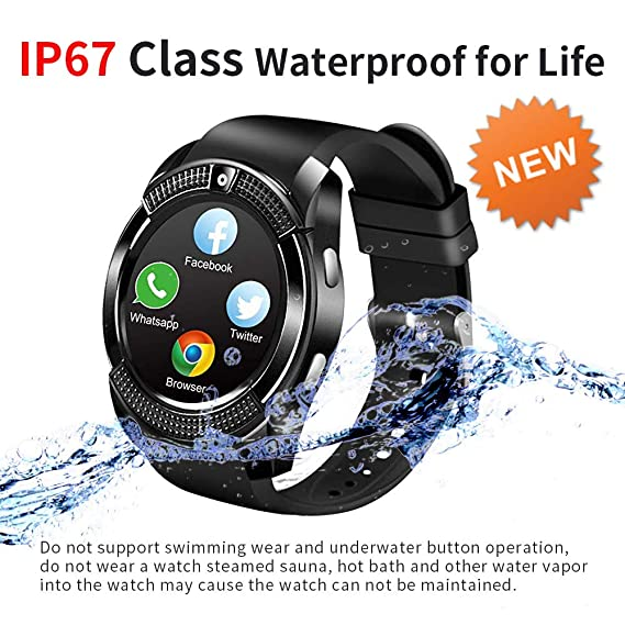 Bluetooth Smart Watch with Camera SIM Card Slot Smartwatch Touch Screen Unlocked Cell Phone Watch Whatsapp Facebook Sports Smart Wrist Watch Smart ...