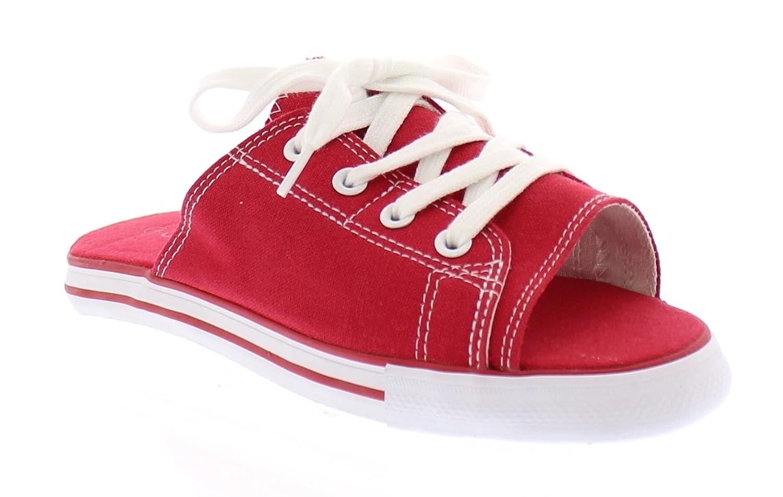Ace Womens Summer Beach Sandal,Slip On Flat Canvas Sandals,Open Toe Slides for Women,Ladies Cute Flipflop B077WW92QP 7 B(M) US|Red