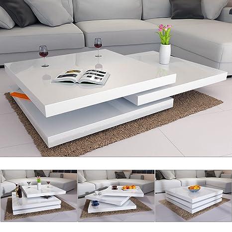 Tavolino Da Salotto Moderno Bianco.Tavolino Basso Da Salotto Moderno Bianco Laccato Lucido