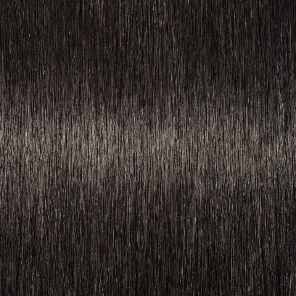 Elailite Postizos de Pelo Natural Clip Coleta Postiza Extensiones Lisas Largas 100% Remy Cabello Humano Ponytail Cola de Caballo 50cm 95g #1B Negro Natural