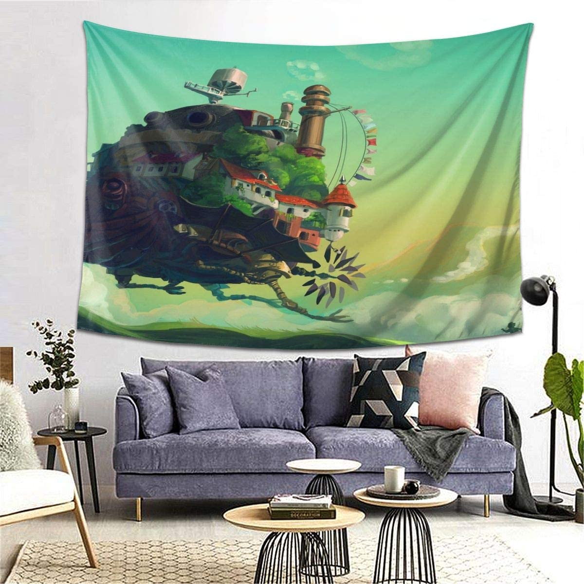 Howls Moving Castle Hayao Miyazaki Wall Tapestry Apestry Album 3D Wall Hanging Art Home Decor Wave Tapestries