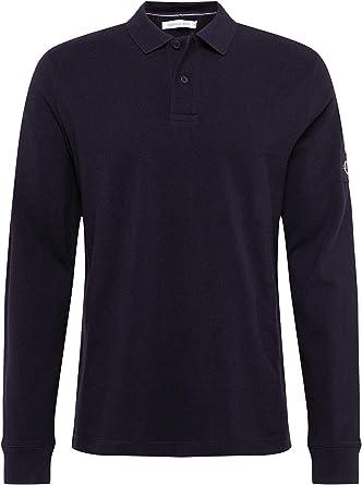 Calvin Klein Monogram Badge Reg LS Polo Camisa para Hombre: Amazon.es: Ropa y accesorios