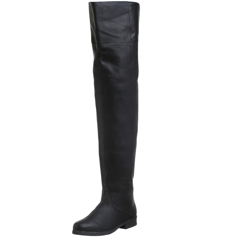 Schwarz (Blk Leather) (P) Pleaser Herren Maverick-8824 Klassischer Stiefel