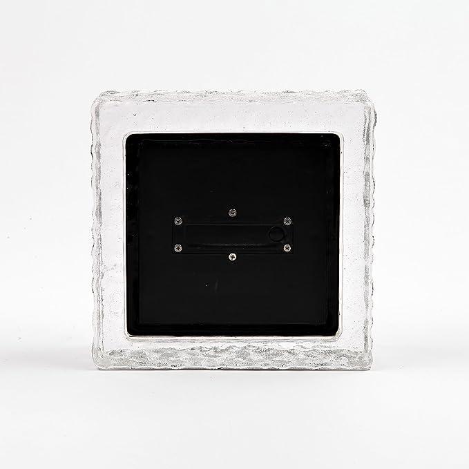 Amazon.com: Luz de ladrillo de vidrio transparente Solar ...