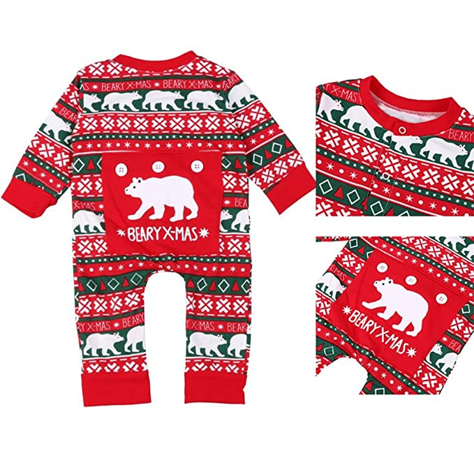 Navidad bebé niñas niños ropa manga larga copo de nieve bebé niños niñas Pelele Mono Body de Navidad recién nacido bebé Niños Niñas Ropa para 0 - 18 meses ...
