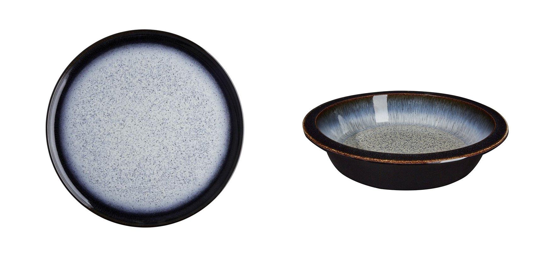 Denby Halo Round Platter and Round Pie Dish, Set of 2