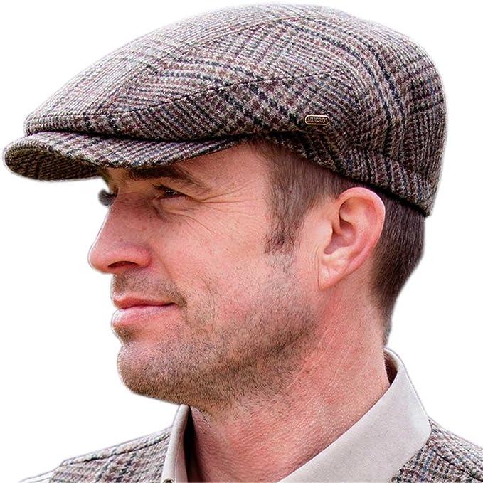 Mucros Weavers Tweed Golf Cap, Traditional Style Golfing Hat, Irish Golf Fashion, Brown