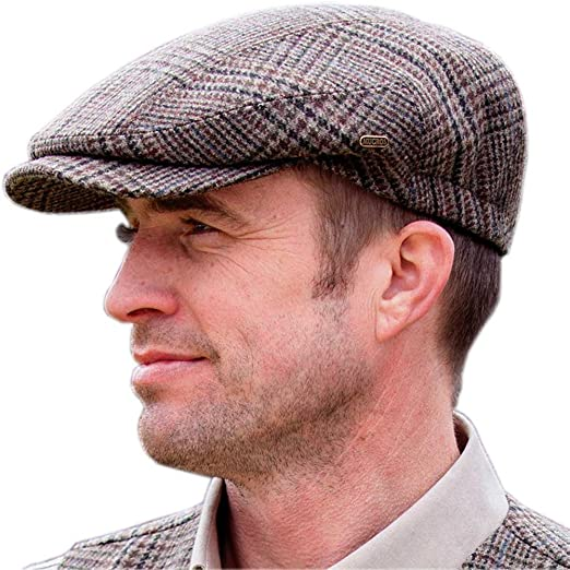 mucros weavers tweed golf cap traditional style golfing hat irish