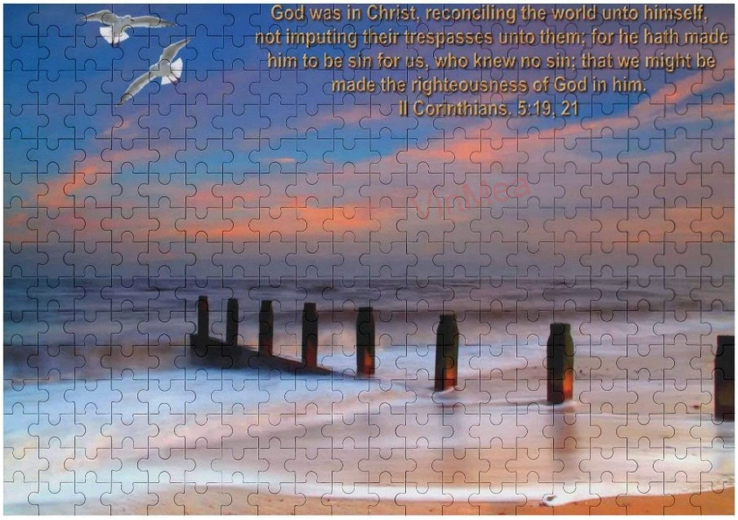 yyone 300 Pieces Jigsaw Puzzle,Biblical Quote for Adults, Entertainment DIY Toys for Creative Gift Home Decor Birthday Gift