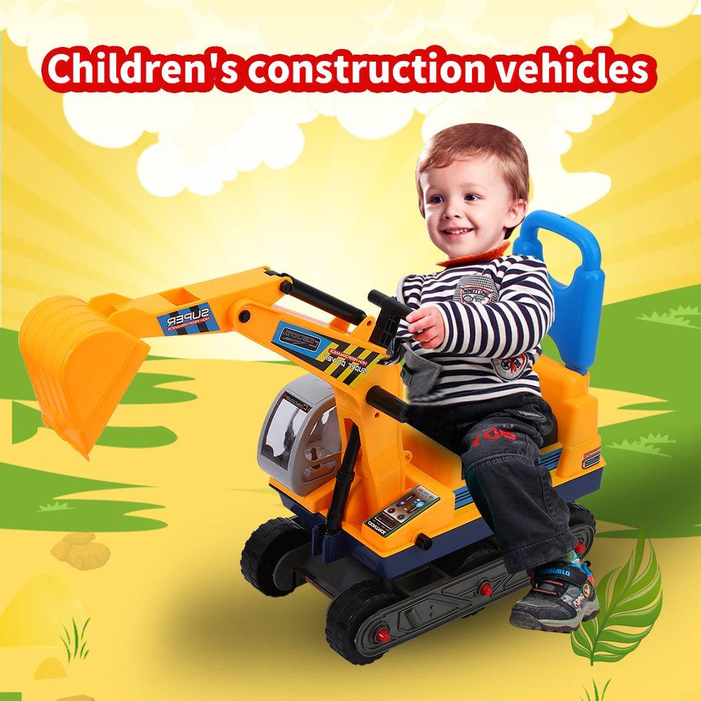 Kinder Bagger Spielzeug Konstruktionsfahrzeuge Bagger mit Helm