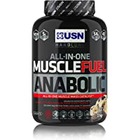 USN Muscle Fuel Anabolic Muscle Gain Shake Powder, Cookies and Cream, 2 kg