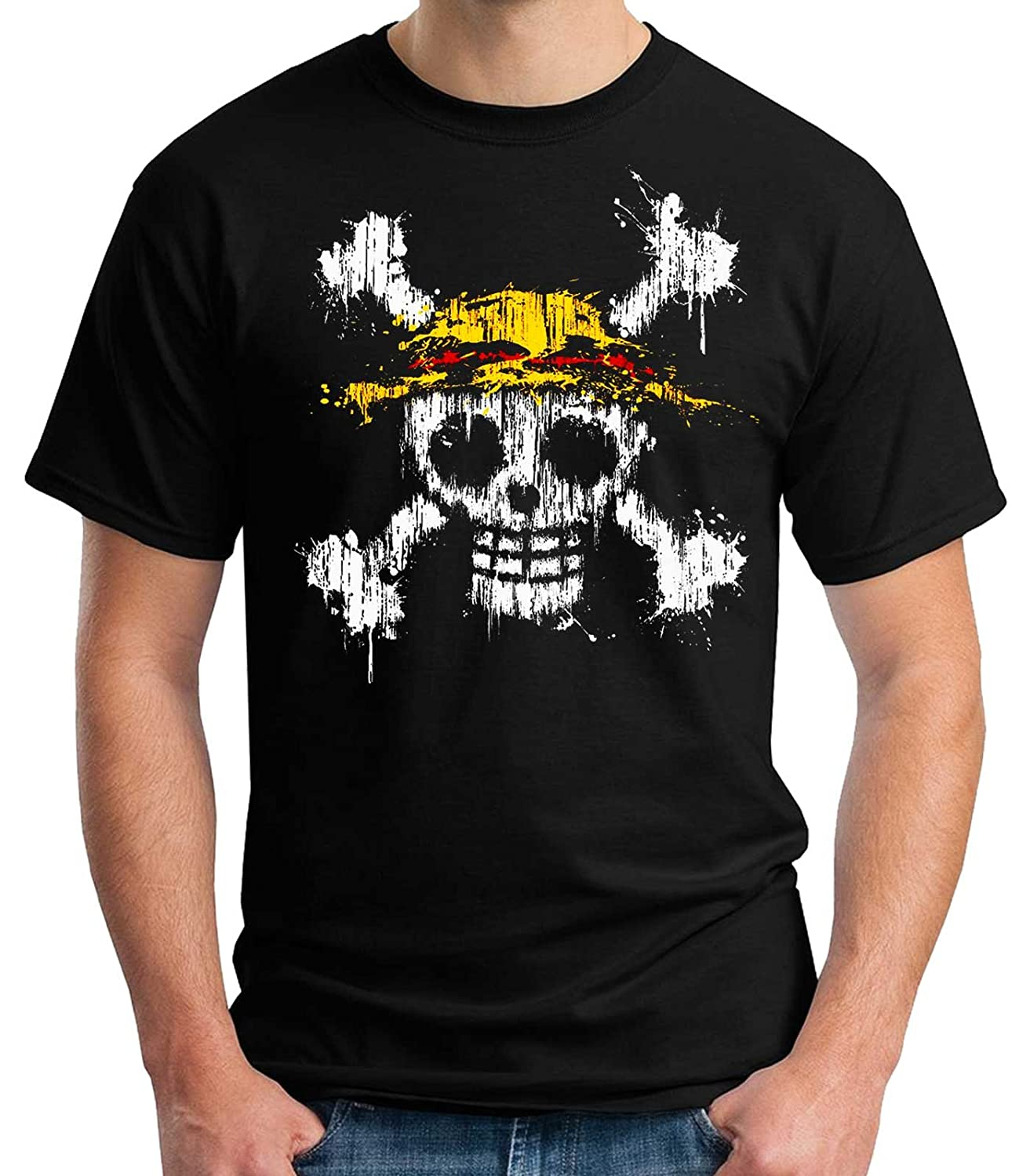 35mm - Camiseta Hombre One Piece Mancha Pintura
