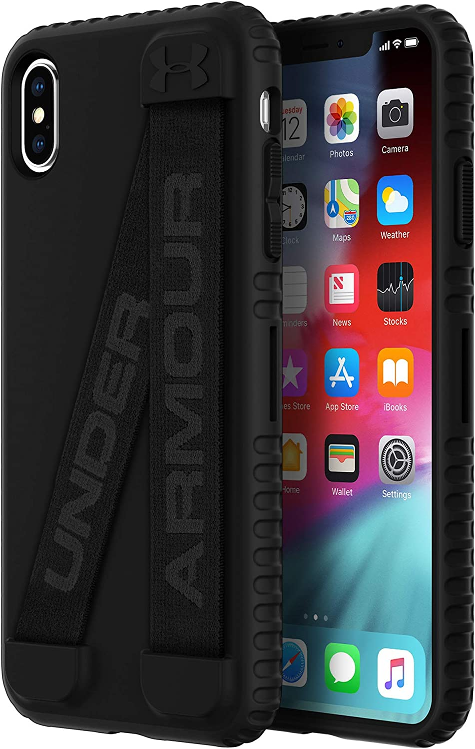 UAIPH-042-BLK-VUnder Armour UA Protect Handle-It Case for iPhone Xs Max - Black/Black/Stealth