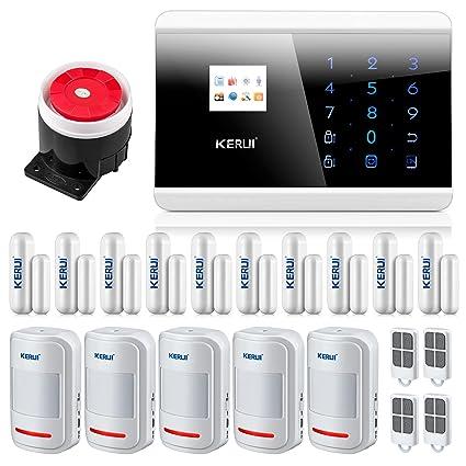 KERUI 8218 G Negro Alarma inalámbrica telefónica GSM Anti Intrusion función temporización, alarma inalámbrico detector