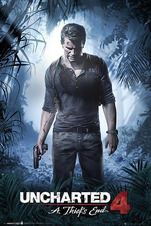 Uncharted 4 Póster a thiefs End + Artículo adicional): Amazon.es: Juguetes y juegos