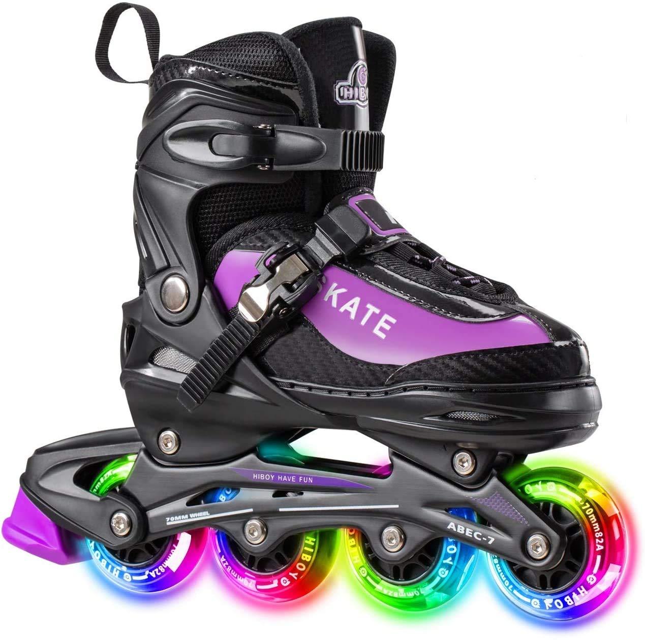 Hiboy Adjustable Inline Skates with All Light up Wheels Outdoor & Indoor
