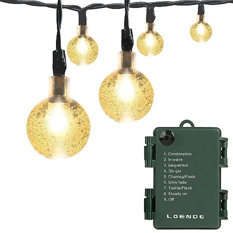 Extensión de luces para exteriores con temporizador Loende ...