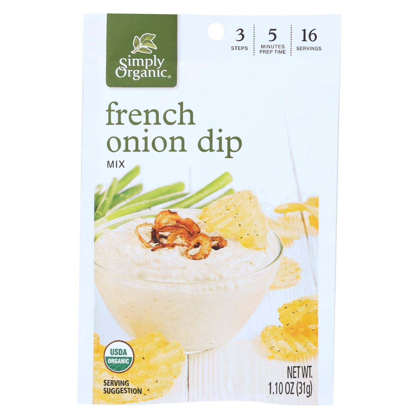 Simply Organic French Onion Dip Mix - Case of 12-1.1 oz. by Simply Organic