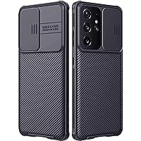 3Ciker New Galaxy S21 Ultra 5G silikonowe etui z ochroną aparatu, ochrona aparatu 360 stopni, ochrona aparatu z Slide…