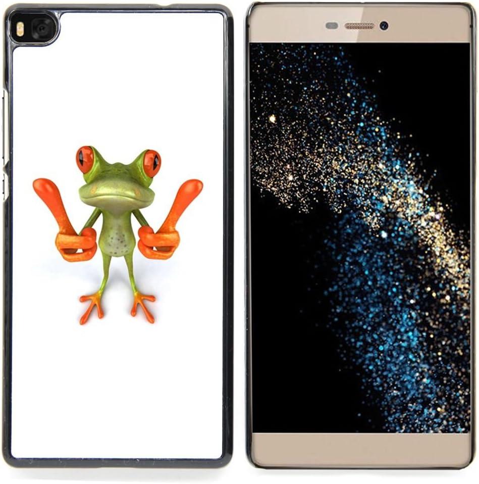 For HUAWEI P8 - smart frog funny cartoon minimalist white /Modelo de la piel protectora de la cubierta del caso/: Amazon.es: Electrónica
