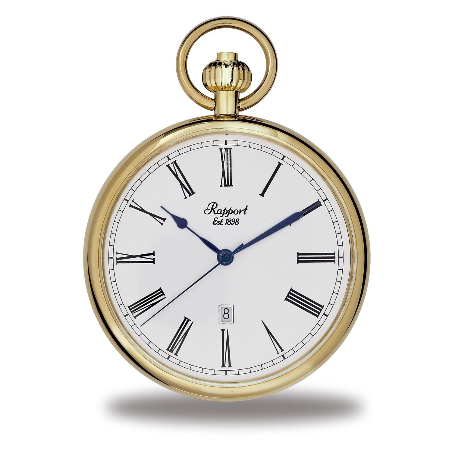 Rapport Oxford Open Face Pocket Watch with Date - Gold