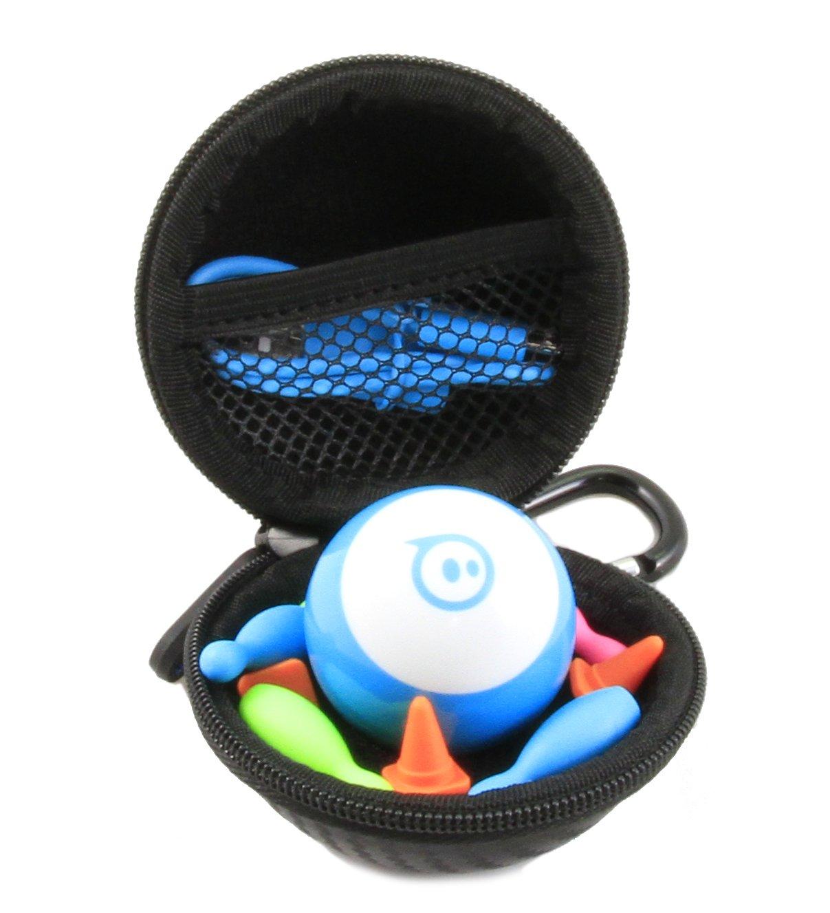 Casematix Spielzeugkoffer, passend für Sphero Mini App gesteuertes Roboter-Ball-Set, nur mit Hülle, schwarz