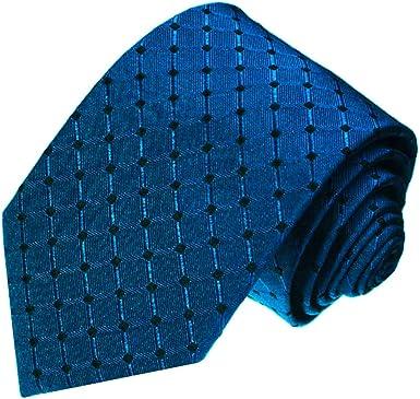 LORENZO CANA – Corbata de lujo de seda 100% seda – Corbata Azul ...