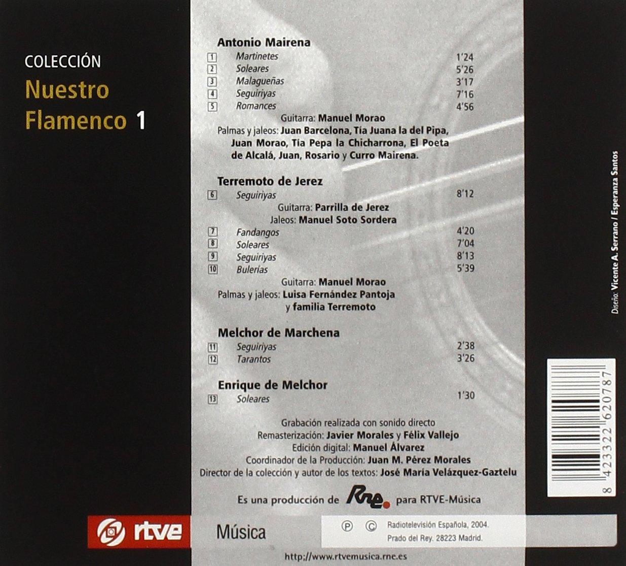 Mairena, de Jerez, etc, Manuel Morao (guitar), Parrilla de ...