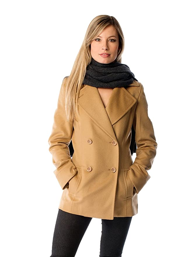 Amazon.com: Women's Cashmere Pea Coat: Clothing