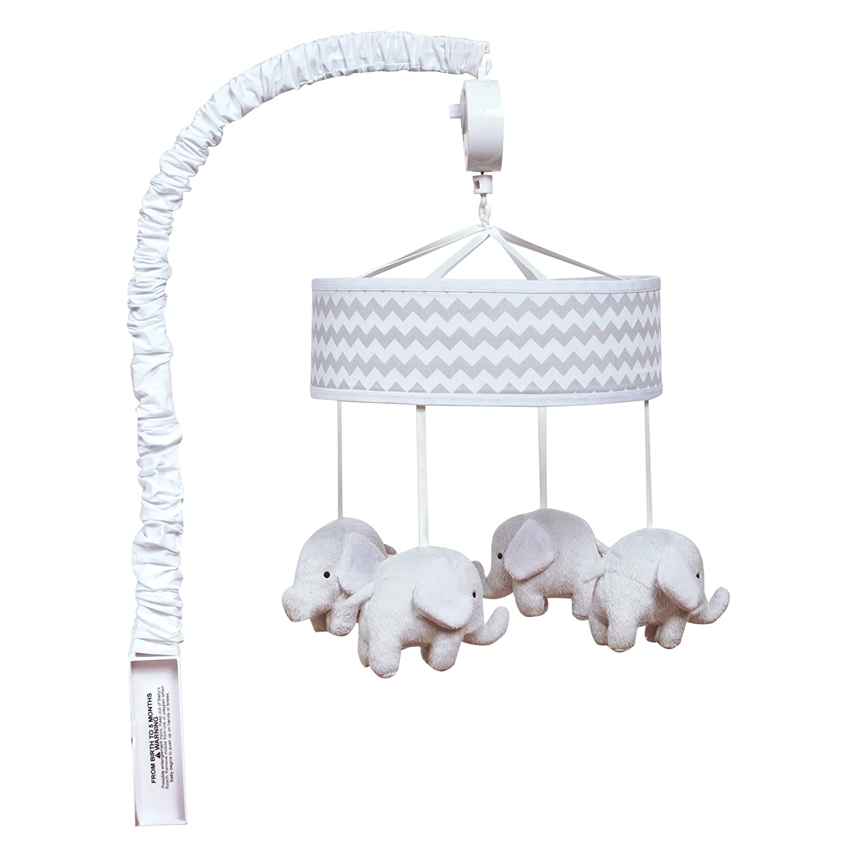 Trend Lab Gray,Chevron, Elephant Musical Crib Mobile, Baby Mobile, Nursery