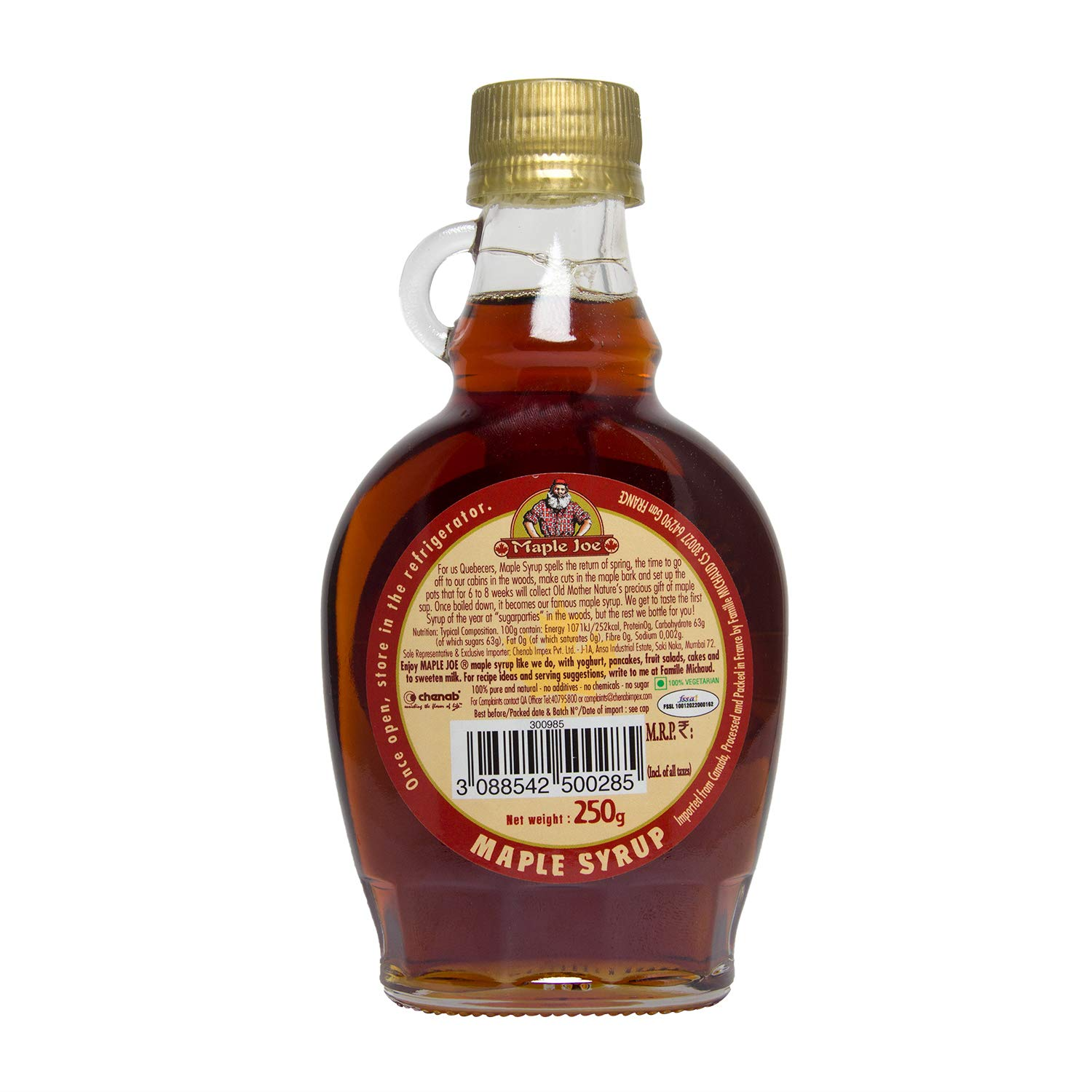 Maple Joe Canadian Grade A Maple Syrup 250g Amazon In Grocery Gourmet Foods
