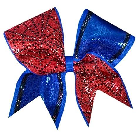 519b06c60ca1 Amazon.com: Chosen Bows Charmed Spiderman Cheer Bow: Sports & Outdoors