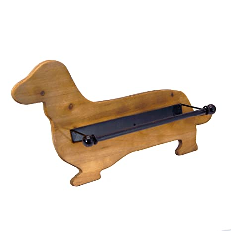 Dachshund Paper Towel Holder Awesome Amazon Wooden Dachshund Paper Towel Holder Kitchen Dining