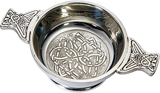 Small Horn Quaich Whisky Tasting Bowl Loving Cup Burns Night Wentworth Pewter