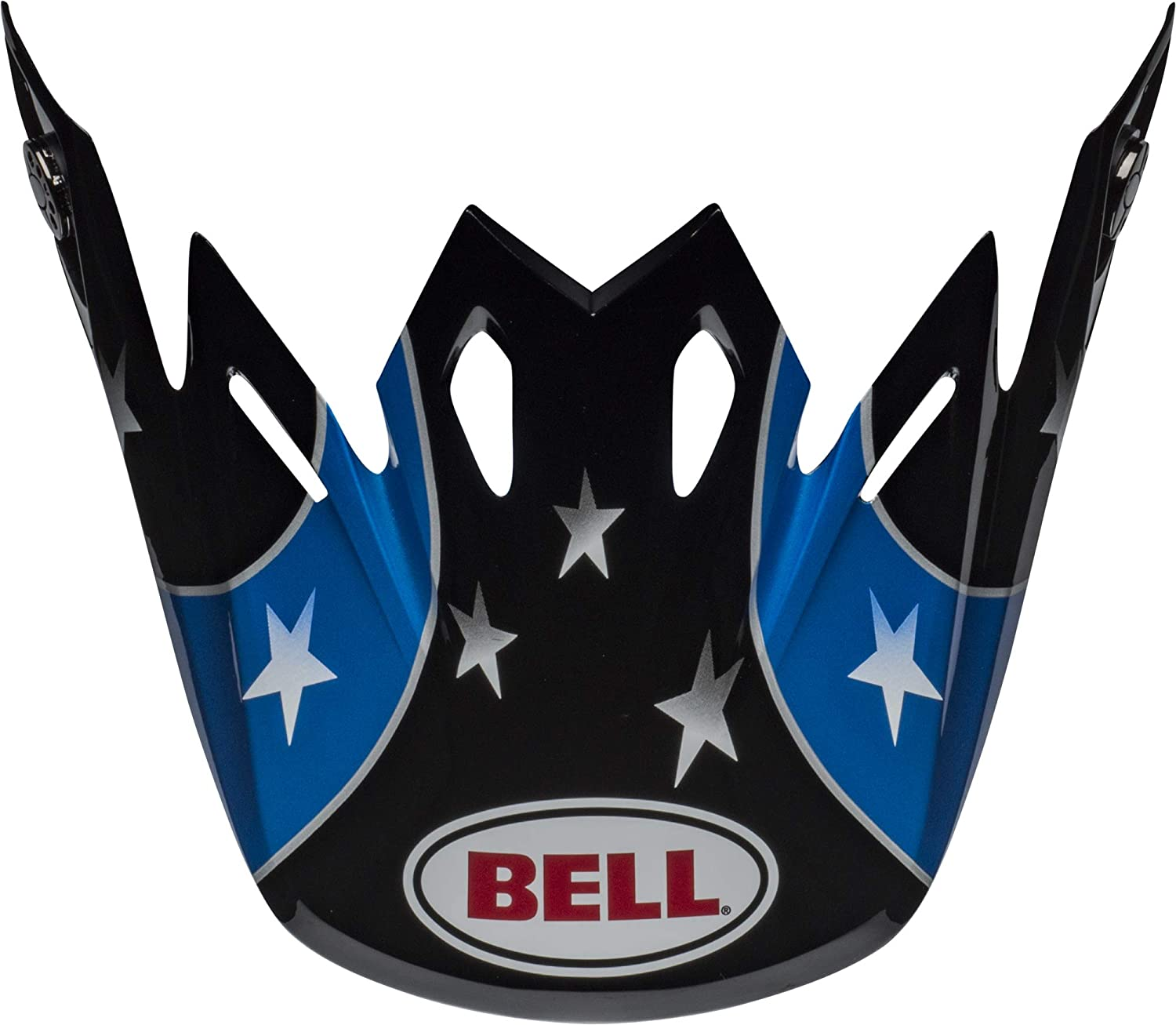 Bell Moto-9 Visor District Blue//Orange