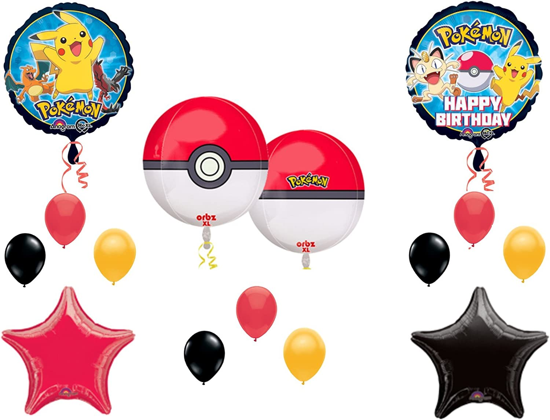 Complete 33 Piece Boys Girls Pokemon Pikachu Film Birthday Party Tableware Set
