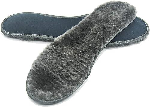 [riemot] 100%天然羊毛 インソール 中敷き メンズ レディース 極厚インソール あったか 防寒 ふわふわ ウールインソール グレー