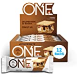 ONE Protein Bars, Smores, Gluten Free Protein Bars with 20g Protein and only 1g Sugar, Guilt-Free Snacking for High Protein Diets, 2.12 oz (12 Pack)