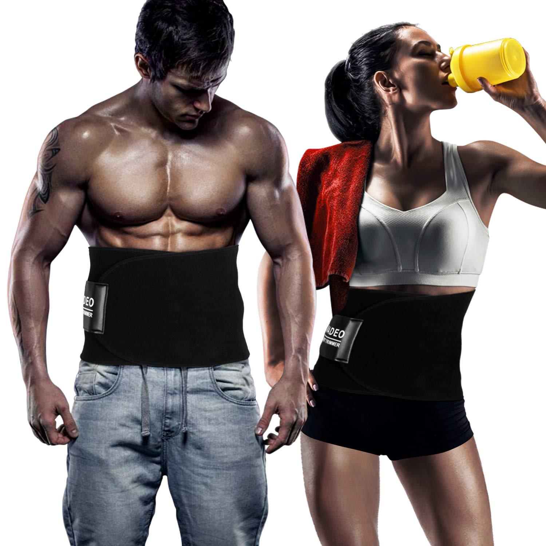 WADEO Waist Trimmer for Women Under Clothes Weight Loss Waist Trainer Belt Neoprene Sauna Corset for Men Tummy Wrap Cincher